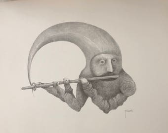 Musician with flute
