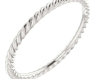 Sterling Silver Rope Band