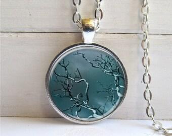 Tree Pendant, Tree Branch Necklace, Tree Necklace, Dark Forest Art Pendant