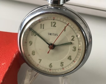 Rare SMITHS  pocket watch with centre second hand in original box and Guarantee 1966