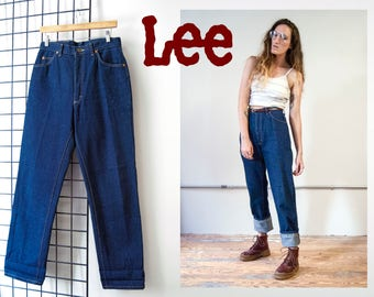 Sold in-store **Do Not Buy** 70s Lee Riders high waist dark wash jeans | size 13 MED medium 30 X 32