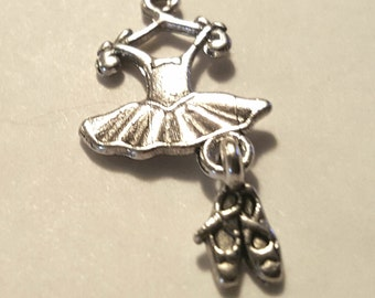 Ballerina Charms - 10 pcs. - Ballet Charms - Tutu Charms -  Silver Ballet Charms - Ballet Shoes Charms - Dance Charms - Bracelet Charms