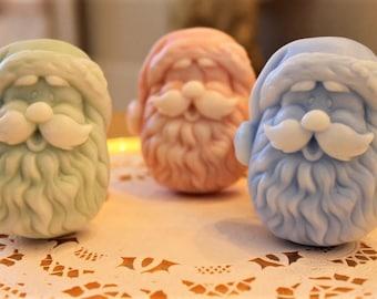 Santa Soap, Christmas Soap, Santa Claus Soap, Christmas Favor Soap, Stocking Stuffers, Victorian Christmas Soap, Santa Claus Soap Favors