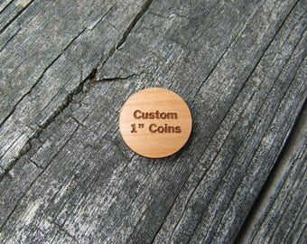 Custom 1 Inch Wood Coins
