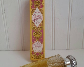 Avon vintage perfume bottle California perfume decanter cologne 1979 anniversary keepsake cologne falcon old perfume bottle