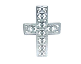 Ornate Religious Cross Metal Paper Cutting Die, Paper Craft Die Cross, Religious Paper cutting Die Christening, Christmas Confirmation