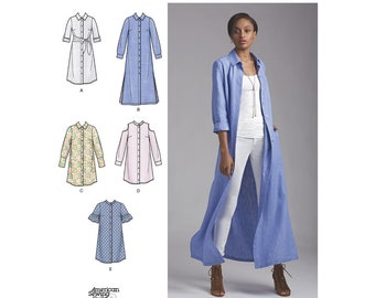 Simplicity Pattern 8546 Misses' and Miss Petite Shirt Dresses