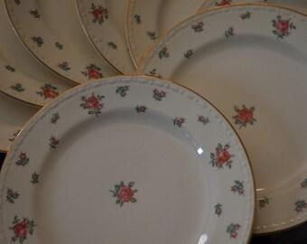 Dishes Vintage Homer Laughlin dishes J 43 N 5 Eggshell Georgian Floral Design American Vogue USA