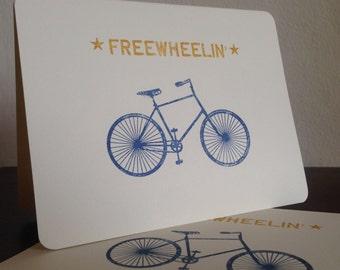 Können Fahrrad - Siebdruck Grußkarten 24-Pack