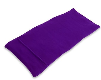 Purple Lavender Extra-Large Body Microwave Heating Pad (10x24), Aromatherapy, Lower Back Heat Wrap Hot Cold Pack, Washable Fleece Cover