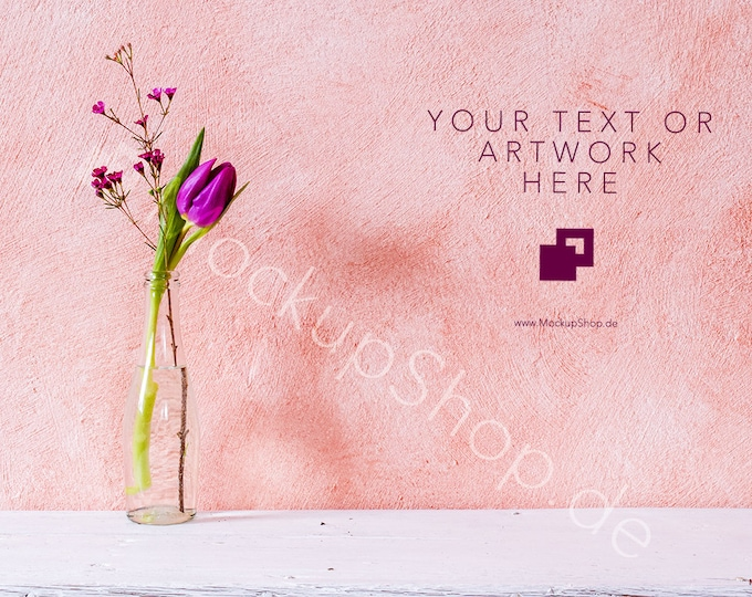 Set of 3 FLOWER BACKGROUNDS  / tulip mockup / flower stock photo / stockphotography / valentines day / spring stock photo / frame mockup