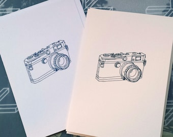 Camera (Canon) Illustration Note Card