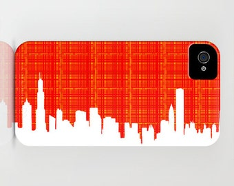 Chicago Skyline Silhouette on Phone Case - iPhone 6S, iPhone 6 Plus, Chicago City, skyline, iPhone 8