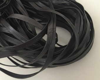 5yds 5mm Faux Leather Ribbon Tape in Brown