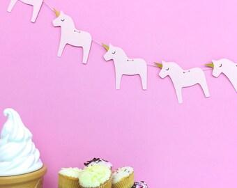 Unicorn garland - unicorn banner - unicorn party - unicorn bedroom - unicorn birthday - girls birthday - birthday party decor - 1st birthday