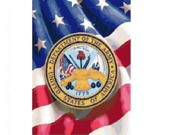 U.S. Army Logo Cross Stitch Chart