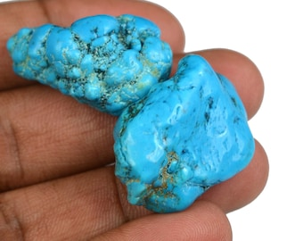 101.55 Ct. Natural Arizona Mine Kingman Turquoise Gemstone Rough Pair Best Deal