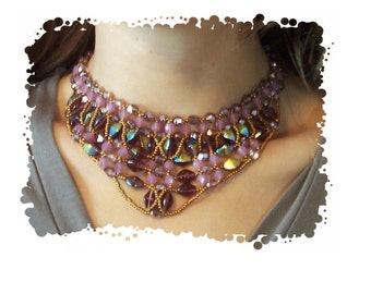 Double Cone Necklace, Beading Tutorial in PDF