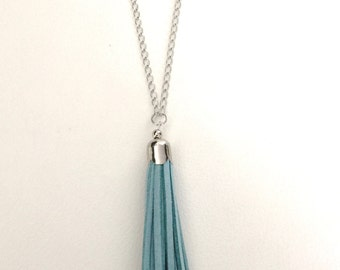 Long tassel necklace, chain tassel necklace, long layering necklace, tassel necklace