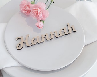 Wooden Wedding Place Name, Wooden Wedding Place Setting, Wedding Place Setting, Name Place Setting, Wedding Place Cards