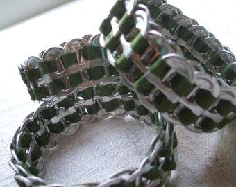 Men's Cuff Army Green FistiCuff Loden Green Tab Top Cuff Bracelet Free Worldwide Shipping