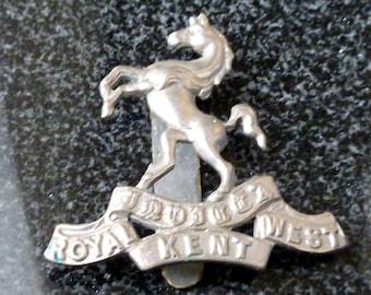 British Military Cap Badge - Invicta (Queen's Own Royal West Kent)