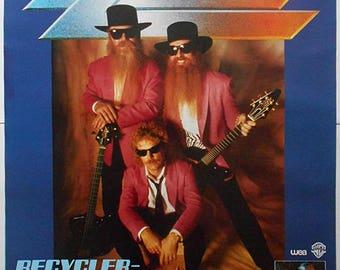 ZZ TOP Recycler Open Air 91 Rare Original 1991 Official German Concert POSTER