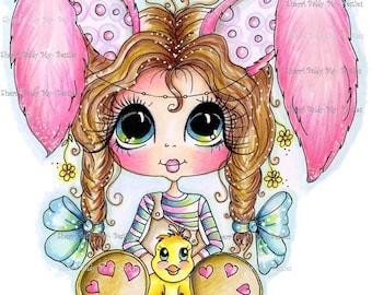 INSTANT DOWNLOAD Digital Digi Stamps Big Eye Big Head Dolls Messy Bessy IMG296 My Besties By Sherri Baldy