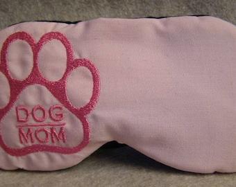 Embroidered Eye Mask for Sleeping, Cute Sleep Mask, Sleep Blindfold, Eye Shade, Slumber Mask,Dog Design, Mom Design, Handmade