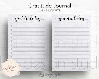 Gratitude Planner, Gratitude Log, Gratitude Printable, A4 Printable, Daily Gratitude, Daily Organizer, Planner Inserts, Gratitude Notebook