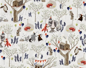 Woodland Crib Bedding, Fitted Crib Sheet or Changing Pad Cover, Woodland Animal Crib Sheet, Whimsical Nursery, Foxtail Fabric