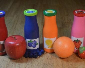Toy Food Fruit Juice Wooden Sensory Toy