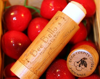 6 Pack - Beeswax Lip Balm - Extra Large Handcrafted Cherry