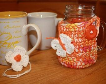 Crochet Mug Cover. Mug cozy. Handmade.