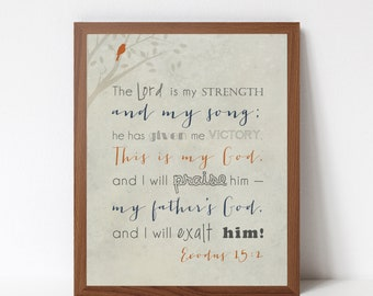 Bible Verses for the Wall - Scripture Wall Art Print - Many Print Sizes and Colors Available