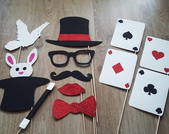 Accessories photobooth x 12 magician, magic