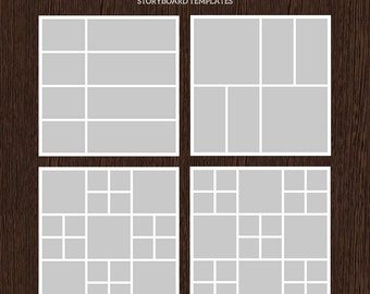 20x20 Photo Storyboard Templates - Photo Collage Template - PSD Template - Resize to 10x10 - For Photographers - Instant Download - S213