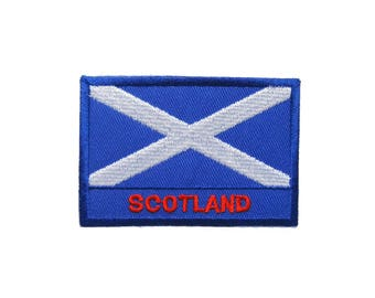 Scotland Flag Embroidered Applique Iron on Patch