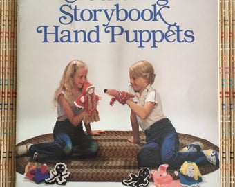 Crocheting Story Book Hand Puppets, 21 Projects!  1981 Instruction Book, R