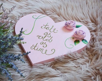 Embossed Heart Shaped Plaque