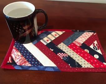 Patriotic Quilted Mug Rug