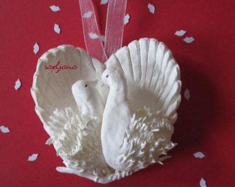 CELEBRATE LOVE, christmas decoration, cold porcelain
