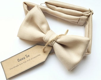 Mens blush bow tie, nude bow tie, wool bow tie, blush pink, wedding bow tie