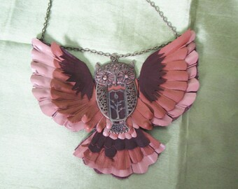Leather necklace Owl, Owl necklace, Owl necklace leathet, Owl necklace, leather Owl necklace, forest Owl necklace, Owl Pendant leathet
