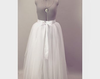 White Tulle Wedding Skirt/Tutu Aline Separates Modern Bridal