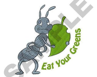 Eat Your Greens - Machine Embroidery Design