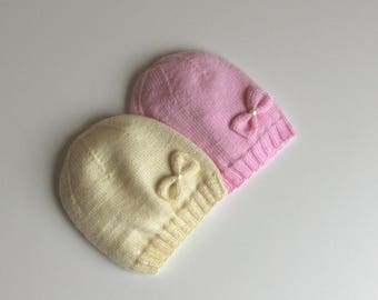 Knit baby hat / baby hat / hand knit baby hat / baby girl hat / knit baby clothes