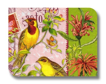 Paper napkin for decoupage, mixed media, collage, scrapbooking x 1. No. 1230 Bright Birds