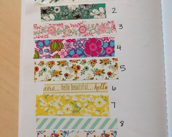 Assorted Floral Washi sample 24 inches - choose your style
