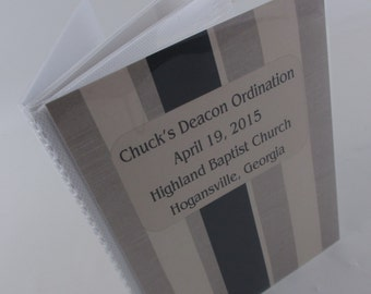 Custom Photo Album, personalized Photo Book -  4x6 or 5x7 picture Gray Stripe 419